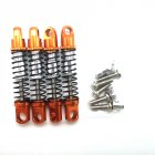 4pcs RC Car All Metal Hydraulic Shock Absorber Diy Modification Model Toy Accessories Orange