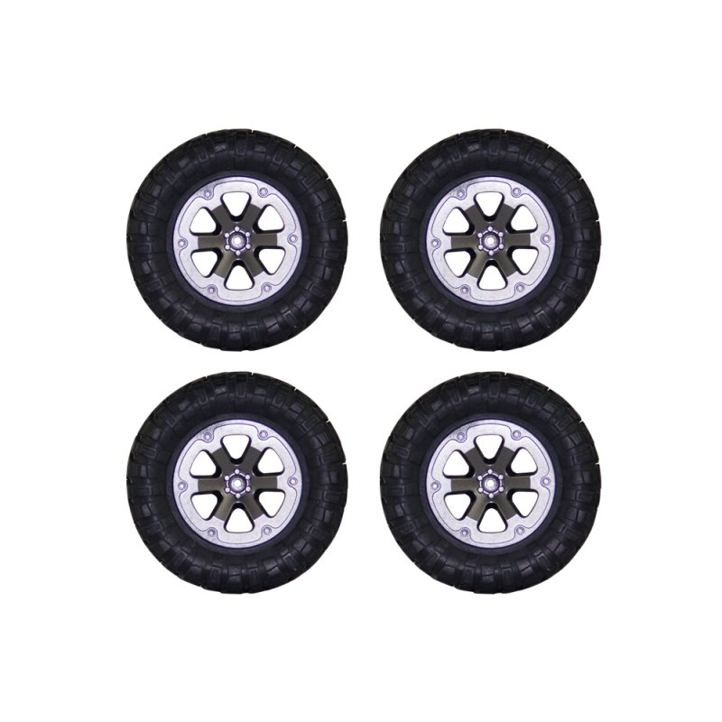 4pcs Track Wheels Spare Parts for 1/16 WPL B14 C24 FY001 FY002 FY003 Military Truck RC Car Upgraded version of the big tire