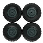 4pcs Track Wheels Spare Parts for 1 16 WPL B14 C24 FY001 FY002 FY003 Military Truck RC Car green