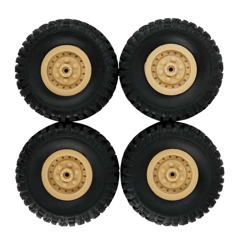 4pcs Track Wheels Spare Parts for 1/16 WPL B14 C24 FY001 FY002 FY003 Military Truck RC Car yellow