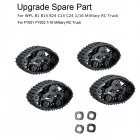4pcs Upgrade Track Wheels Spare Parts for 1/16 WPL B14 C24 Military Truck RC Car as shown