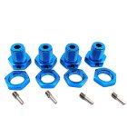 4pcs Wheel Hex Hub 5mm Threadlock Tire Combiner for 1/10 TRAXXAS E-REVO Tire Adapter Wheel Nut for RC Car Parts blue