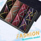 4pcs/set Man Box-packed Fashion Breathable Underwear Colorful Boxers geometric_XXXL