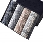 4pcs/set Man Box-packed Fashion Breathable Underwear Colorful Boxers Buddha statue_XL