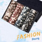 4pcs/set Man Underwear Box-packed Fashion Breathable Colorful Boxers stars_XXL