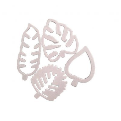 4pcs/set Tropical Leaf Fondant Cake Mold Embossed Candy Cutter Mold DIY Accessories 4pcs