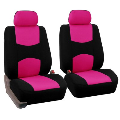 Car Front Seat Cover Fluorescent Pink