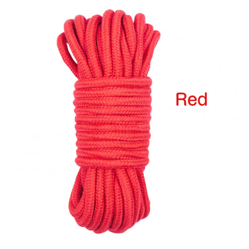 5/10M Bondage Rope Long Thick Cotton Bdsm Body Tied Ropes SM Slave Game Restraint Products Adult Sex Toys for Men Woman Couples red