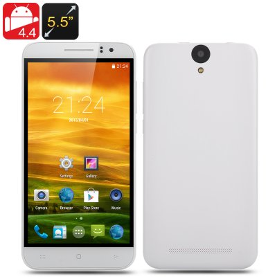 5.5 Inch Android 4.4 Smartphone (White)
