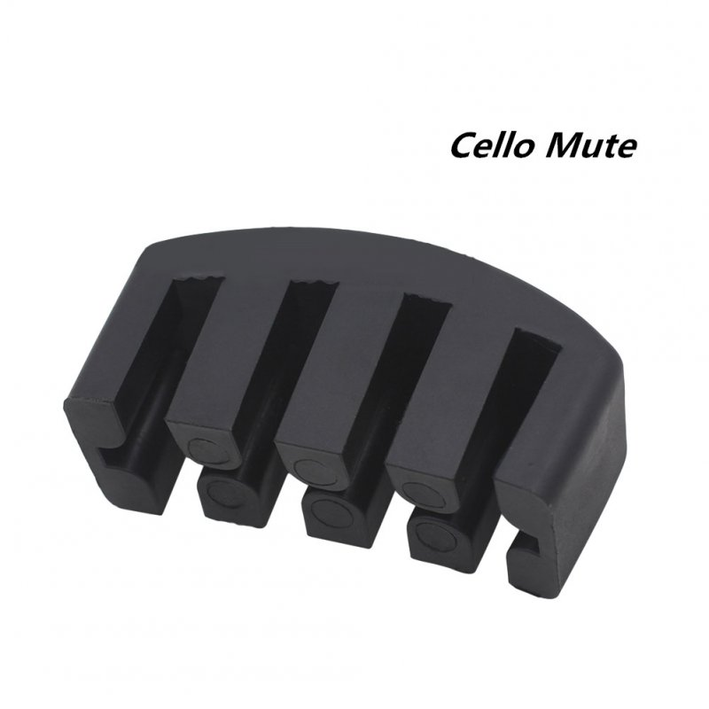 5-Claw Rubber Practice Cello Mute for 4/4 Size Cello Volume Control black_1
