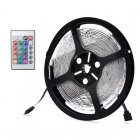 5 Meter 24W Color Light Strip has 300x3528 RGB SMD LEDs  an IP65 Waterproof and it comes with a 24 Key IR Remote