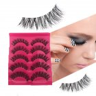 5 Pairs False Eyelashes 3D Mink Hair Natural Long Thick Handmade Soft Fake Lashes Set  Makeup Cosmetics 5 pairs in a box