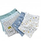5 Pcs set Boys Underpants Cotton Cartoon Boxer Shorts for 3 14 Years Old Kids 5 L