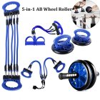 5-in-1 AB Wheel Roller Kit AB Roller Pro Portable Equipment  blue