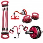5 in 1 AB Wheel Roller Kit AB Roller Pro Portable Equipment  red