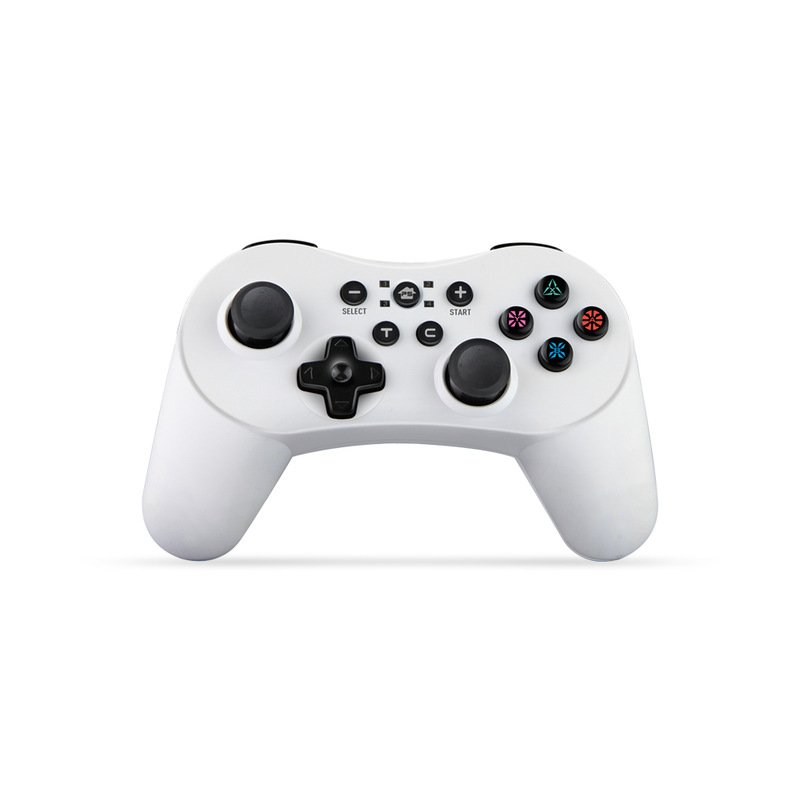 5 in 1 Bluetooth Controller with Six Axis Gamepad Joystick Joypads for Switch/PS3/PC/PC360/Android white