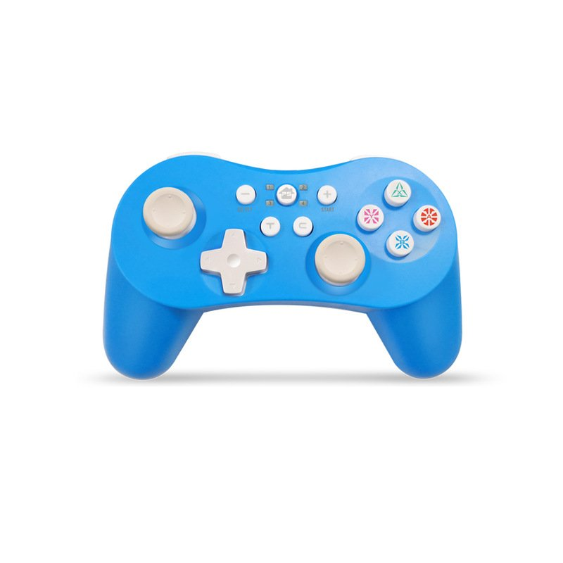 5 in 1 Bluetooth Controller with Six Axis Gamepad Joystick Joypads for Switch/PS3/PC/PC360/Android blue