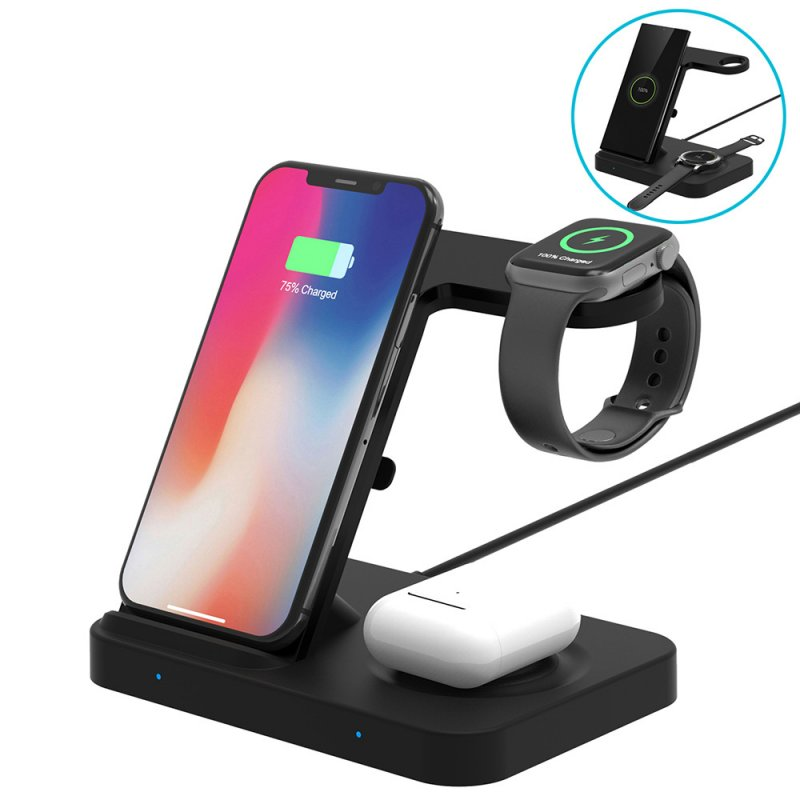 5 in 1 Fast Wireless Charger for Airpods 2 / Pro Wireless Charging Recevice Center black