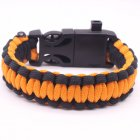 5-in-1 Multi-function Outdoor Seven-core Umbrella Rope Lanyard Camping Adventure Bracelet Orange + black