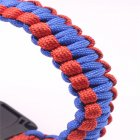 5-in-1 Multi-function Outdoor Seven-core Umbrella Rope Lanyard Camping Adventure Bracelet Red plus blue
