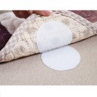 5 pairs Sofa Cushions Sheets Quilts Carpets Household Non-marking Anti-Slip Holder Nylon Fastener Tape Round white