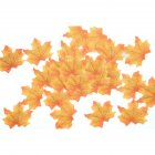 50 PCS Set Simulation Maple Leaves for Wedding Party Festival Decoration Photo Props    No  4 bright yellow  50 pieces
