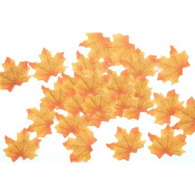 50 PCS/Set Simulation Maple Leaves for Wedding Party Festival Decoration Photo Props... No. 4 bright yellow (50 pieces)