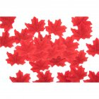 50 PCS Set Simulation Maple Leaves for Wedding Party Festival Decoration Photo Props    No  5 red  50 pieces