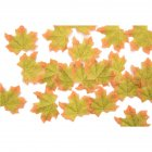 50 PCS/Set Simulation Maple Leaves for Wedding Party Festival Decoration Photo Props... Green No. 11 (50 pieces)