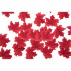50 PCS Set Simulation Maple Leaves for Wedding Party Festival Decoration Photo Props    12th wine red  50 pieces