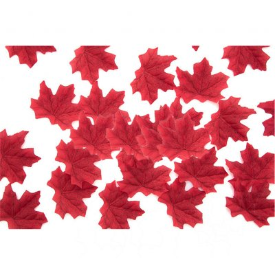 50 PCS/Set Simulation Maple Leaves for Wedding Party Festival Decoration Photo Props... 12th wine red (50 pieces)
