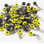 50 Pcs/Set  Fishing Float Bobber Connectors Sea Saltwater fishing Accessories 50 medium (yellow)