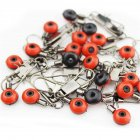 50 Pcs Set  Fishing Float Bobber Connectors Sea Saltwater fishing Accessories 50 large  red