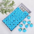 50 Pcs box Simulation Rose Handmade Soap Petal Bath Body Soap Home Wedding Decoration blue