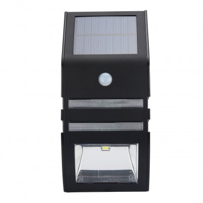 Outdoor Solar Powered Security Light (Black)