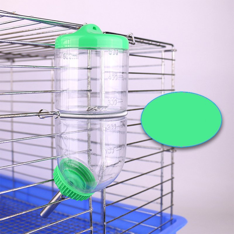 500 ML Leakproof Rolling Ball Water Dispenser for Rabbit Chinchilla Guinea Pig green
