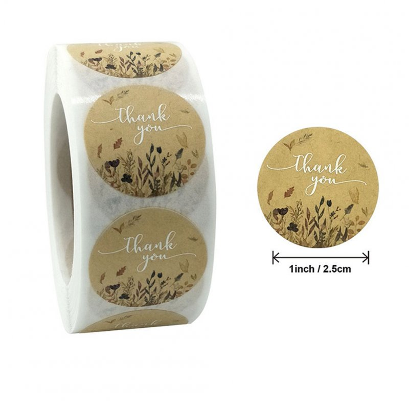 500 Pcs Labels Thank You Stickers for Baking Gift Envelope Sealing Decoration 25mm (1 inch)