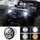 500 W 30000LM 7 inch LED Yellow and White Halo Angel Eye Headlights For Jeep Wrangler Led Beam Headlamp H4/H13 (left and right four eyes) X type Led Headlight
