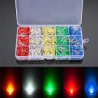500Pcs/box 5mm LED Light White/Yellow/Red/Blue/Green Assortment Diodes Kit DIY Box Packing 5MM
