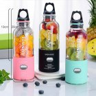 500ml 6 Blade Portable Blender Juicer Machine Electric Mini Usb Food Processor Juicer Cup Pink