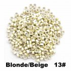 500pcs Silicone Micro Ring Aluminium Rings/Links/Beads Hair Extensions Tools for Human Hair Beige