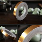 50M Gold Color Self Adhesive Waterproof Wall Tape Strip Floor Tile Beauty Seam Sticker Home Decoration Gold-1.0CM