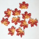 50Pcs/Pack Delicate Fall Artificial 8cm Maple Leaves for Weddings Events Decorating   bright orange