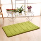 50X80CM Thicken Memory Foam Non Slip Mat for Bathroom Toliet Door Floor Grass green