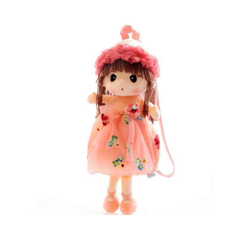 50cm Fairy Plush Backpacks Sweet Flower Doll Shoulder Bag Cartoon Children's Backpack for 2-6 Years Old Girls Birthday Gifts