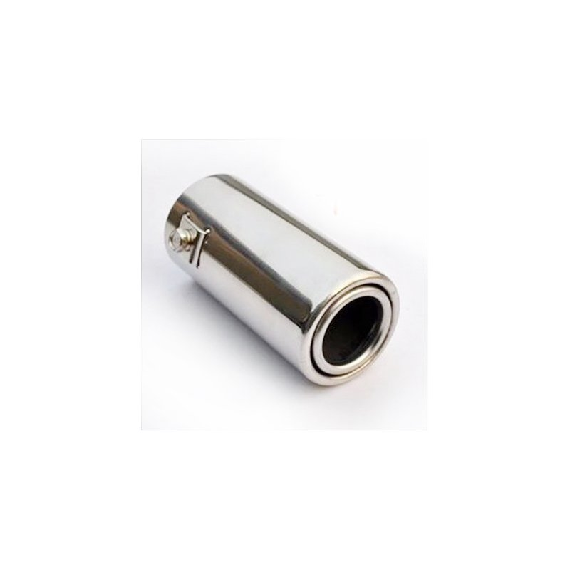51mm Inlet Diameter Stainless Steel Car Exhaust Muffler Pipe Modified Tail Throat A1