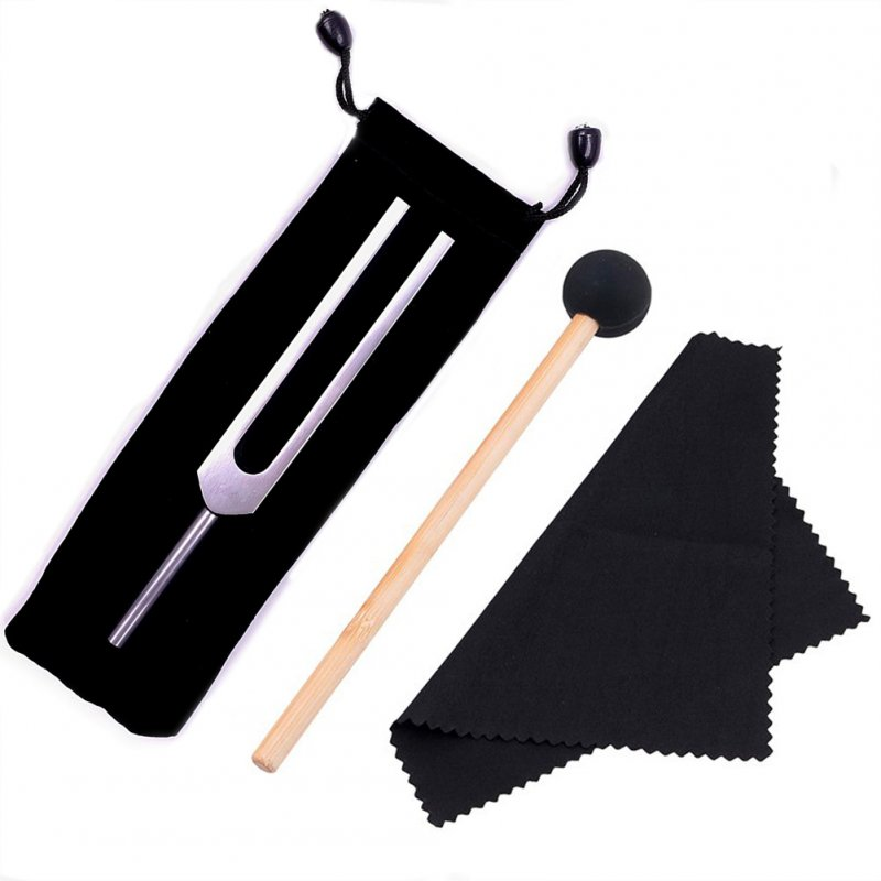 528hz Tuning Fork Aluminium Alloy Music Healing With Mallet Set Medical Chakra Silver