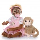 52CM Handmade Detailed Paint Reborn Baby Monkey Newborn Baby Collectible Art