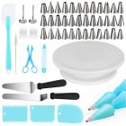 52Pcs/Set Turntable Pastry Nozzle Set Cake Baking Tool blue