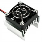 540 550 3650 Motor Heat Sink Cooler Heat Fin 36mm Diameter Radiator Cooler with Ball Bearing Fan for RC Model Car Silver